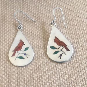 Jewelry - Silver earrings with cardinals